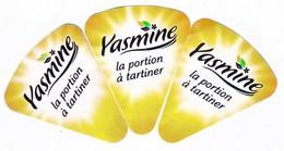 """Algérie - 3 étiquettes De Fromage Fondu """"Yasmine"""" Modèle Courant Petit. Voir Second Scan Comparatif. - Fromage"""