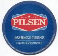 Lote Pa7, Paraguay, Posavaso, Coaster, Pilsen, Consumir Responsablemente - Portavasos