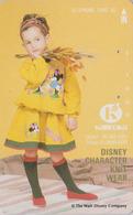 Télécarte Japon / 330-34784 - DISNEY Character Kameoka Knitwear - Enfant Fillette Child - Japan Phonecard Telefonkarte - Disney