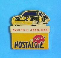 1 PIN'S //   ** PORSCHE / ÉQUIPE JEANJEAN / RADIO NOSTALGIE ** - Porsche