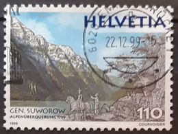 SUIZA 1999 The 200th Anniversary Of The Suvorov`s Alps Crossing. USADO - USED. - Suiza