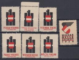 F-EX7590 AUSTRIA OSTERREICH CINDERELLA STAMPS LOT. FAIR 1934. MH - NO GUM. - Autriche