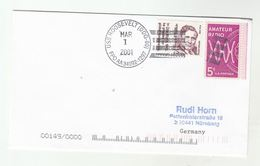 2002 USS ROOSEVELT DDG-80 Cover  FPO AA 34092 1297  USA Navy Ship Radio Wendell Willkie 1943 WII Speach Stamps - Ships