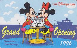 Télécarte NEUVE Japon / 110-174610 - DISNEY STORE GO - Mickey & Minnie / Ice Glace à Yokohama - Japan MINT Phonecard - Disney