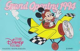 Télécarte NEUVE Japon / 110-159388 - DISNEY STORE GO 1994 - MICKEY En Avion- Japan MINT Movie Phonecard ** 2500 EX ** - Disney