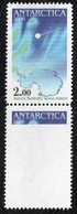 Antarctica Post Verticle Pair With Big Printing Error. - Unclassified