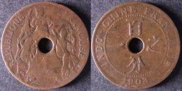 INDOCHINE  1 Cent 1903  INDOCINA  INDO-CHINA    PORT OFFERT - Camboya