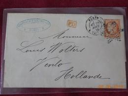 Lettre Avec No 38 Avec Cachet Etoile De Paris A Destination De Venlo (Pays Bas) - Marcophilie (Lettres)