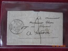 Lettre Type 11 Avec Cursive.cachet Au Depart De Sisteron En Date Du 3 Mars 1832 - 1801-1848: Précurseurs XIX