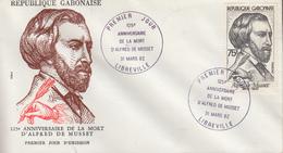 Enveloppe  FDC  1er  Jour   GABON    Alfred  DE  MUSSET    1982 - Gabon