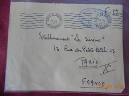 Lettre  De Tunisie Avec Cachet El Aouina Aerogare De 1957 - Other