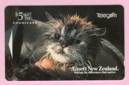 New Zealand - 1993 Ansett Airlines - $5 Fluffy The Cat - NZ-A-3 - Mint - New Zealand
