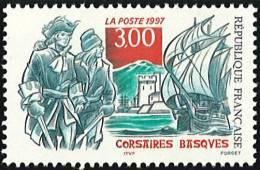 N° 3103  Année 1997  Corsaires Basques  Faciale 3,00 Francs - Neufs