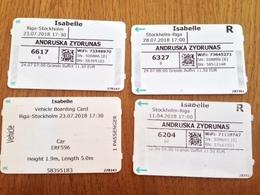 Set Ticket  Riga - Stockholm 2018 - Europa