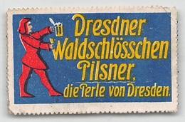 """07393 """"DRESDNER WALDSCHLÖSSCHEN PILSNER - DIE PERLE CON DRESDEN"""" ERINNOFILO ORIG., - Erinnofilia"""