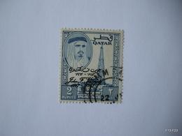 QATAR 1964.  Pres. Kennedy Commem. Optd John F Kennedy 1917–1963 2Re. SG 46. Used. - Qatar