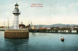 PERU -  Callao - Reloj De La Darsna - VG Harbour Scene Etc - Peru