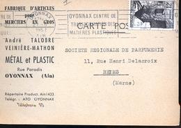 OYONNAX FABRIQUE D ARTICLES 1952 - Oyonnax