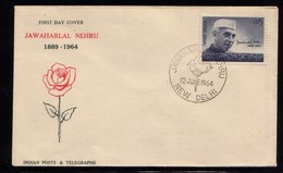 INDE FDC NEHRU 1964 - FDC