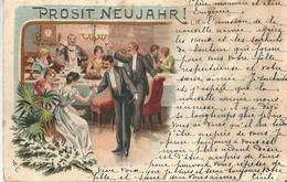 Allemagne  PROSIT  NEUJAHR .( En 1898 Voir Verso ) - Allemagne