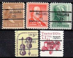 USA Precancel Vorausentwertung Preo, Locals Texas, Higgins 841, 5 Diff. - Vereinigte Staaten