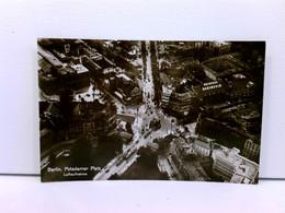 Seltene Foto-AK Berlin, Potsdamer Platz - Luftaufnahme; Weinhaus Rheingold, Straßenbahnen Und Autos - Deutschland