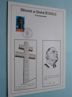 Mémorial Au Général DE GAULLE - 5e Anniversaire ( Stamp 18 Juin 1977 / Voir Photo Svp ) ! - 1970-1979