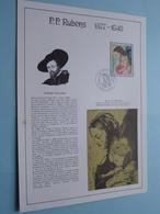 P.P. RUBENS 1877 - 1640 ( Stamp 5 Nov 1977 / Voir Photo Svp ) ! - FDC