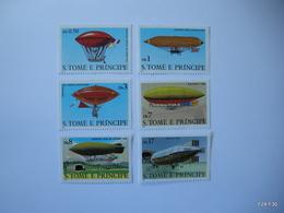 S. TOME E PRINCIPE. St. THOMAS & PRINCE ISLANDS. Baloons. Michel 626-631. Scott 561-566. MNH - Stamps