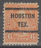 USA Precancel Vorausentwertung Preo, Bureau Texas, Houston 638-51, Perf. Not Perfect - Etats-Unis