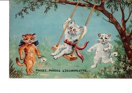 POUSSEZ... POUSSEZ  L'ESCARPOLETTE ... 3 Mignons Petits Chats. - Fairy Tales, Popular Stories & Legends
