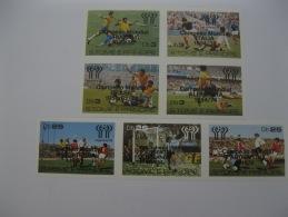 Sao Tome And Principe 1978 World Cup Football MICHEL No.551-557 Imperf Overprinted - Coppa Del Mondo