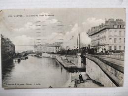 Nantes. La Loire Et Le Quai Brancas. Collection Chapeau. Animée, Train. 1921 - Nantes