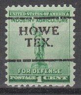 USA Precancel Vorausentwertung Preo, Locals Texas, Howe 701 - Vereinigte Staaten