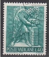 """Vaticano 1966 Blf. 428  """"Arte Edile"""" Bassorilievo Di M. Rudelli Used - Professioni"""