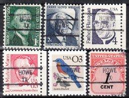 USA Precancel Vorausentwertung Preo, Locals Texas, Howe 841, 6 Diff. - Vereinigte Staaten