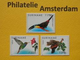 Suriname 1995, FAUNA BIRDS OISEAUX VOGELS VÖGEL AVES: Mi 1524-26, ** - Vogels