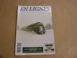 EN LIGNES Revue Ferroviaire N° 83 SNCB NMBS Chemins Fer Train Locomotive Carrières Pierres CUP Lessines Hainaut Taifer - Chemin De Fer & Tramway