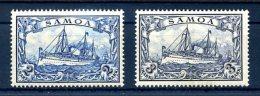 Z60683)Samoa 17* + 18* - Kolonie: Samoa