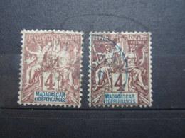 VEND BEAUX TIMBRES DE MADAGASCAR N° 30 X 2 NUANCES DIFFERENTES !!! - Used Stamps