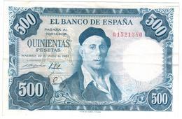 Spain 500 Pesetas 1954, VF/XF. - [ 3] 1936-1975: Regime Van Franco