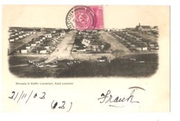 SOUTH AFRICA - STREET IN KAFFIR LOCATION - EAST LONDON - STAMP - MAILED TO ITALY 1902 - ( 2779) - South Africa