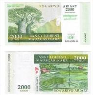 Madagascar - 2000 Ariary 2007 - 2012 MAP Comm. UNC Ukr-OP - Madagascar