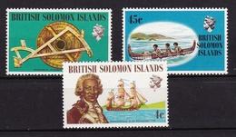 Iles Salomon - Solomon Islands1972XxExplorateurs - Bougainville - Boudeuse - Astrolabe - CanoeY&T209 - 210 - 212 - Salomon (Iles 1978-...)
