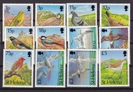 Sainte-Hélène1993XxFaune - Oiseaux - Rouge-gorge - Pigeon - MouetteY&T592 à 603 - Sainte-Hélène