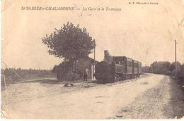 St Didier S Chalaronne La Gare Et Le Tramway (coins Cornés Cf Scan) - Autres Communes