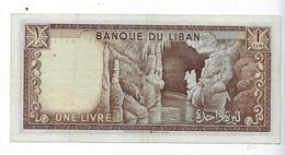 Billet Liban Une Livre - Liban