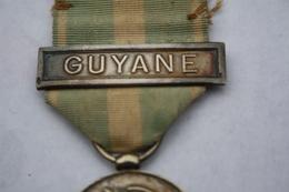 Médaille Coloniale Barrette Guyane III ème République - Francia