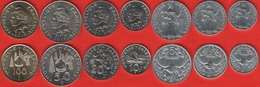 New Caledonia Set Of 7 Coins: 1 - 100 Francs 2013 UNC - New Caledonia