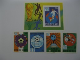 Niger 1978 World Cup Football SC#438-441 ,442  Imperf - 1978 – Argentine